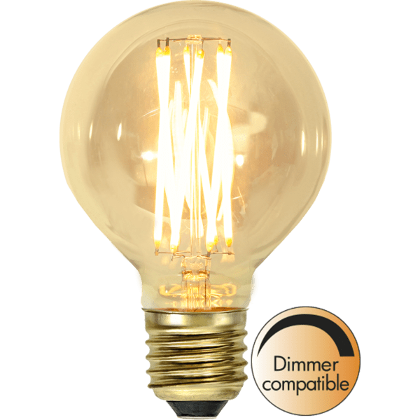 LED-LAMPA E27 G80 VINTAGE GOLD